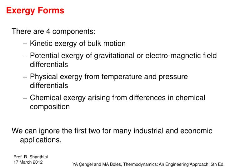 Exergy Forms