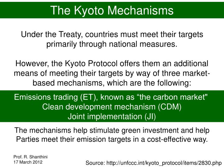 The Kyoto Mechanisms