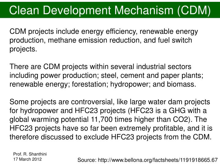Clean Development Mechanism (CDM)