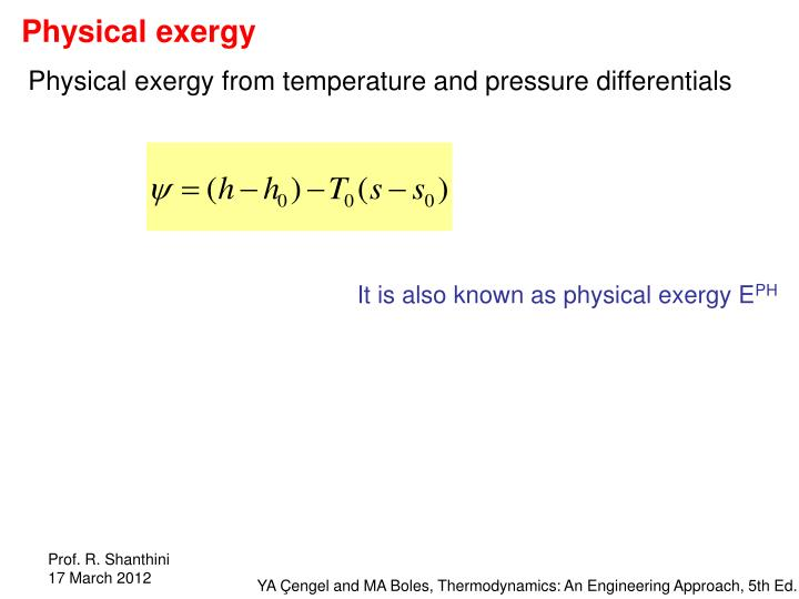 Physical exergy