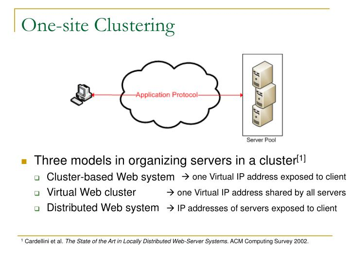 One-site Clustering