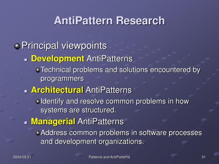 AntiPattern Research