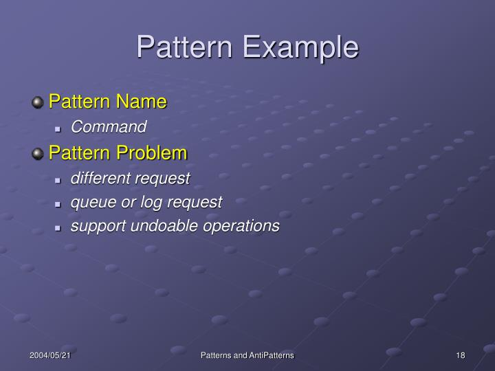 Pattern Example