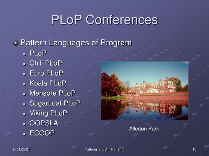 PLoP Conferences