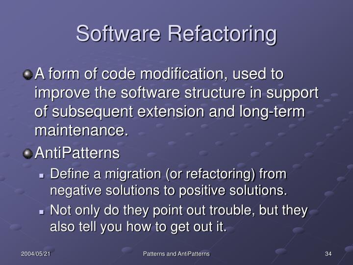 Software Refactoring