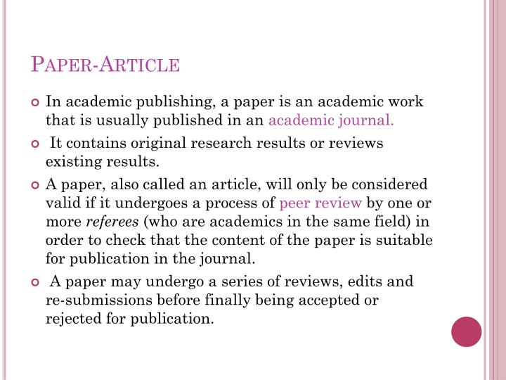 Paper-Article