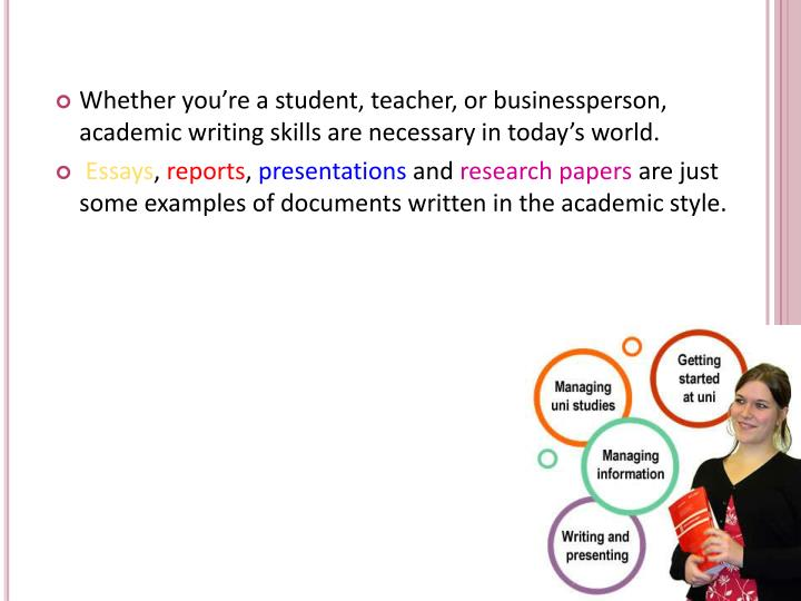 Whether you're a student, teacher, or businessperson, academic writing skills are necessary in today's world.