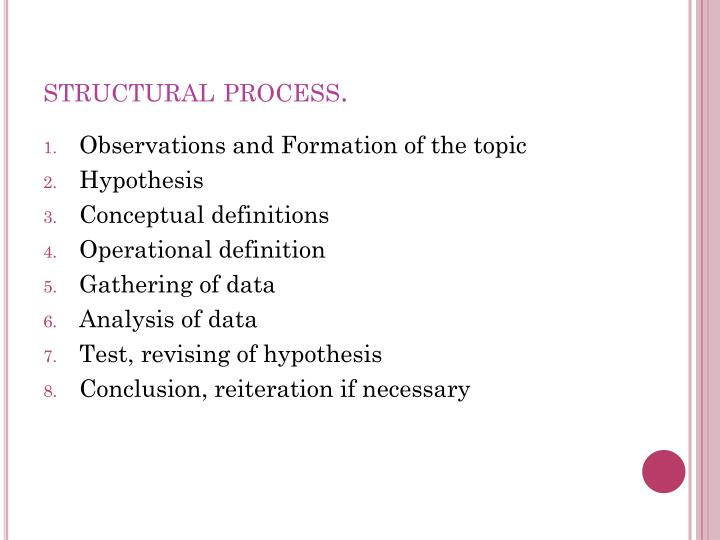 structural process.