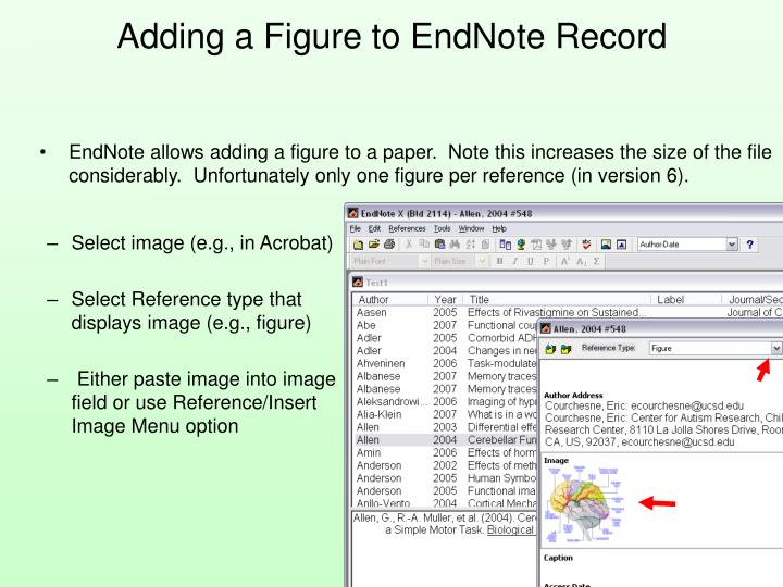 Adding a Figure to EndNote Record