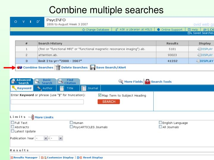 Combine multiple searches