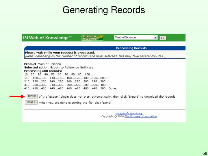 Generating Records