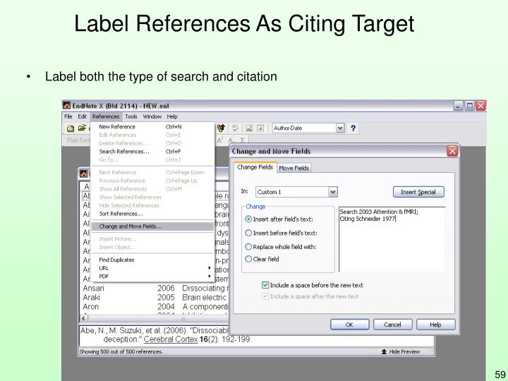 Label References As Citing Target