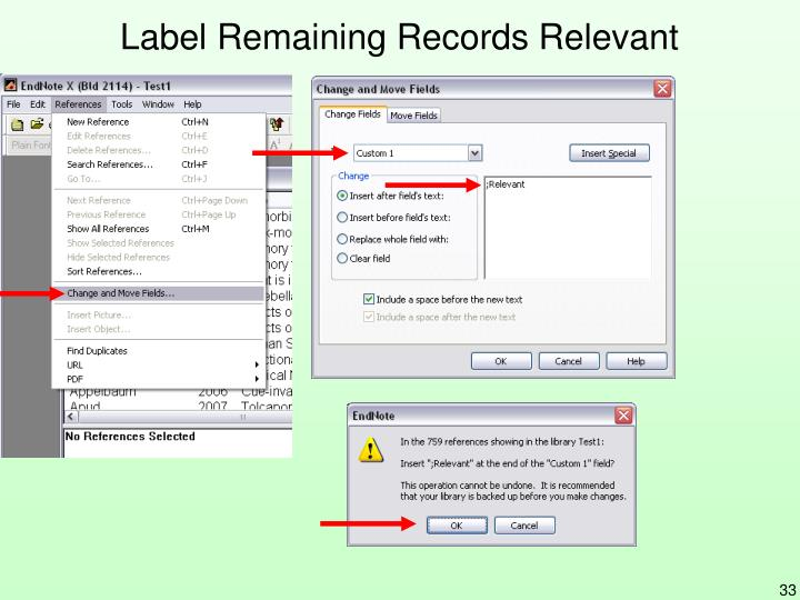 Label Remaining Records Relevant