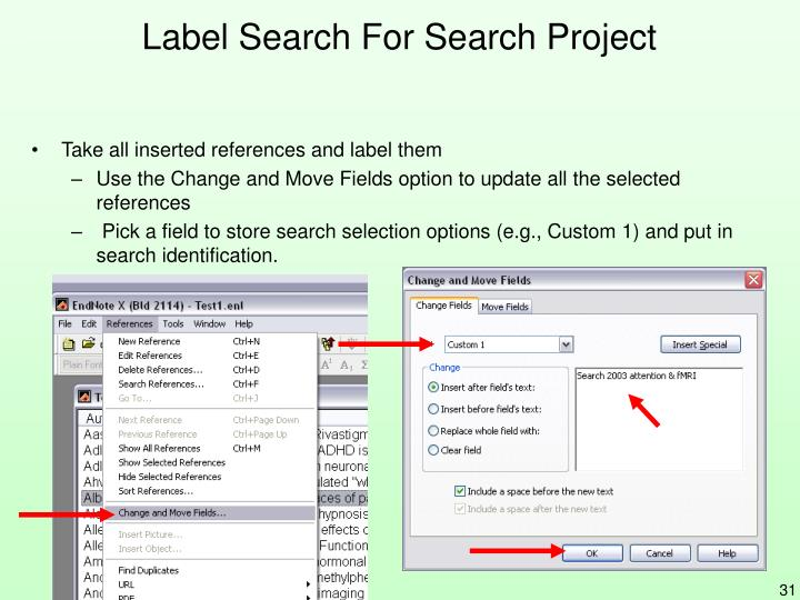 Label Search For Search Project