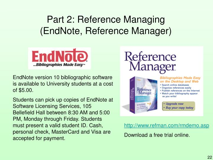 Part 2: Reference Managing