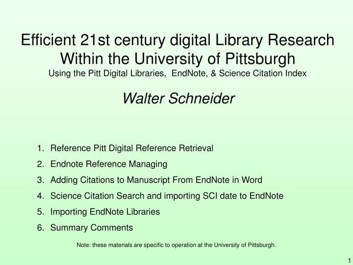 Efficient 21st century digital Library Research