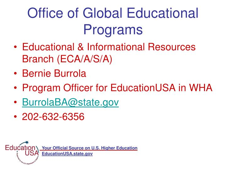 Office of Global Educational Programs