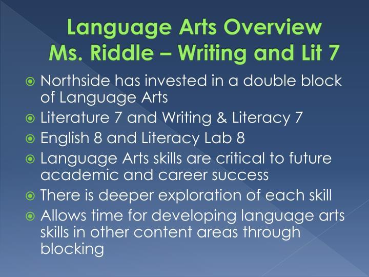 Language Arts Overview