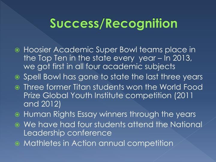 Success/Recognition