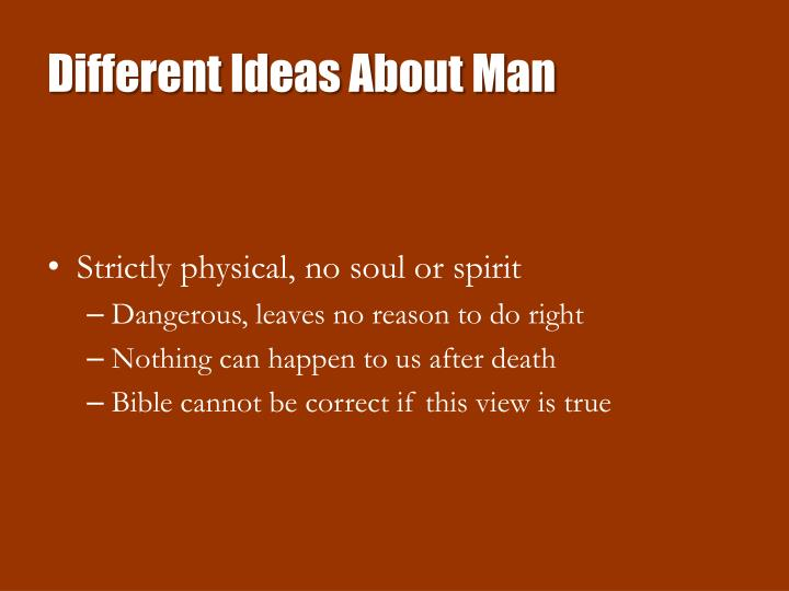 Different ideas about man1