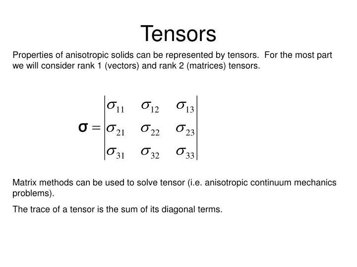 Tensors