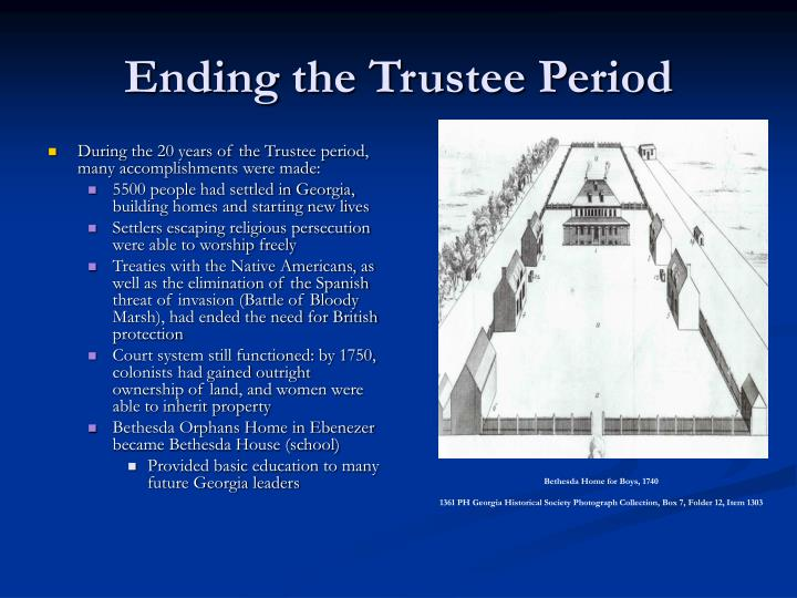 Ending the Trustee Period