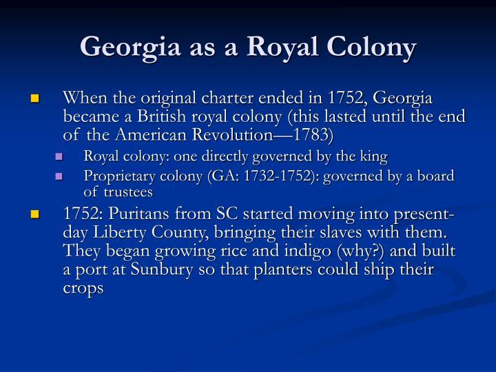 Georgia as a Royal Colony