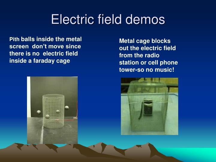 Electric field demos