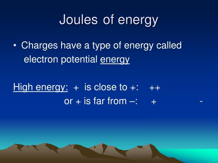 Joulesof energy