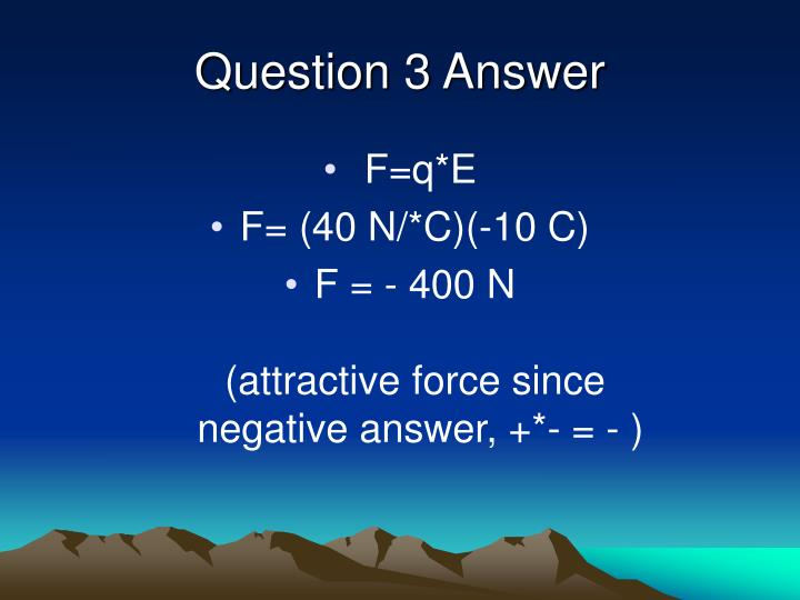 Question 3 Answer