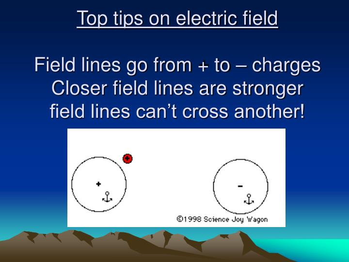 Top tips on electric field