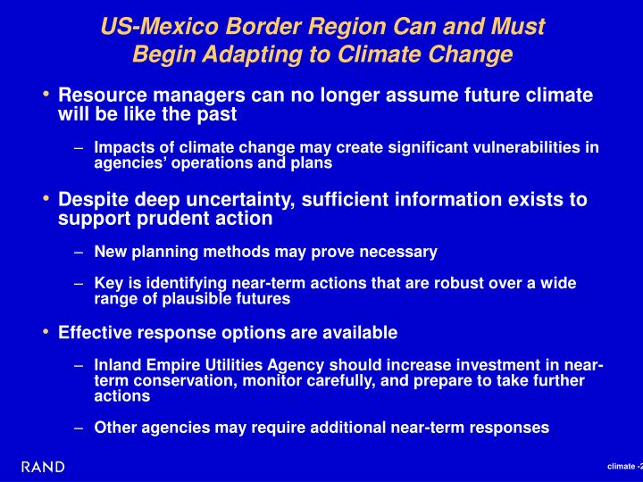 US-Mexico Border Region Can and Must