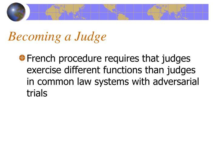 Becoming a Judge
