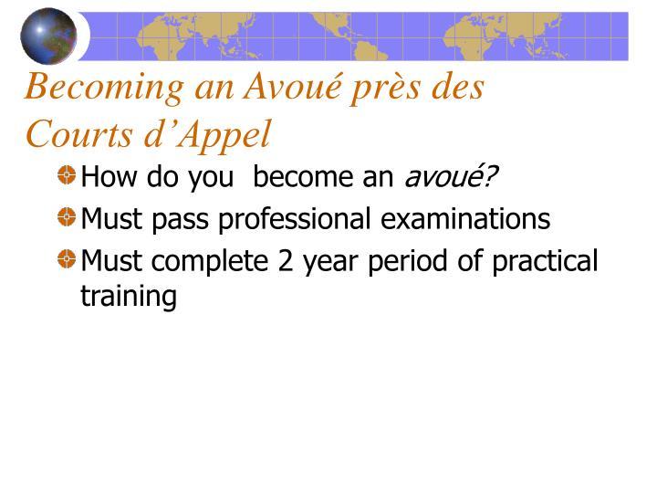 Becoming an Avou