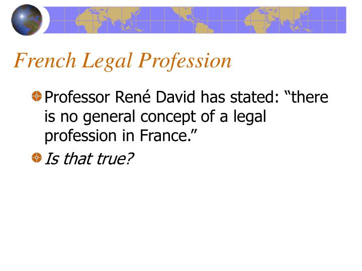 French Legal Profession