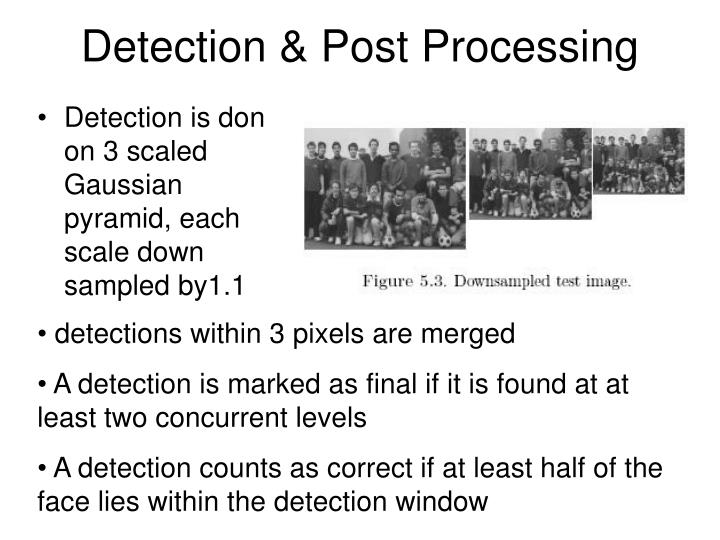 Detection & Post Processing