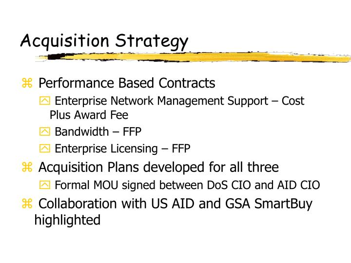 Acquisition Strategy