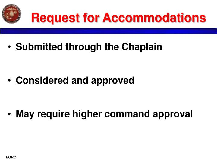 Request for Accommodations