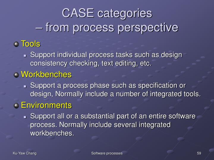 CASE categories