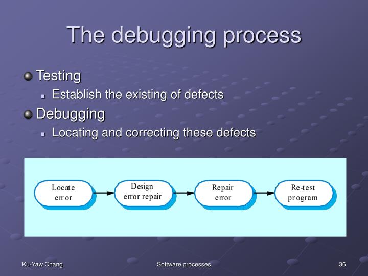 The debugging process