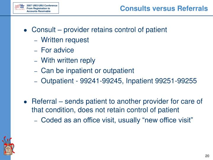 Consults versus Referrals