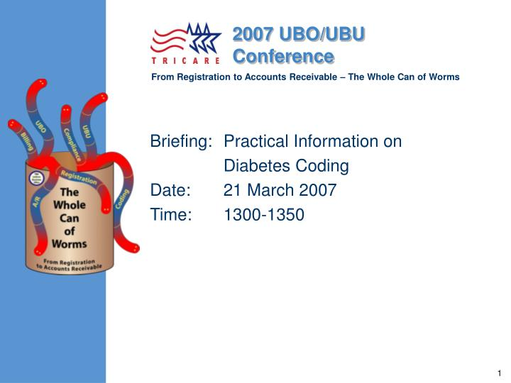 Briefing: 	Practical Information on
