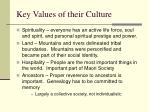 key values of their culture