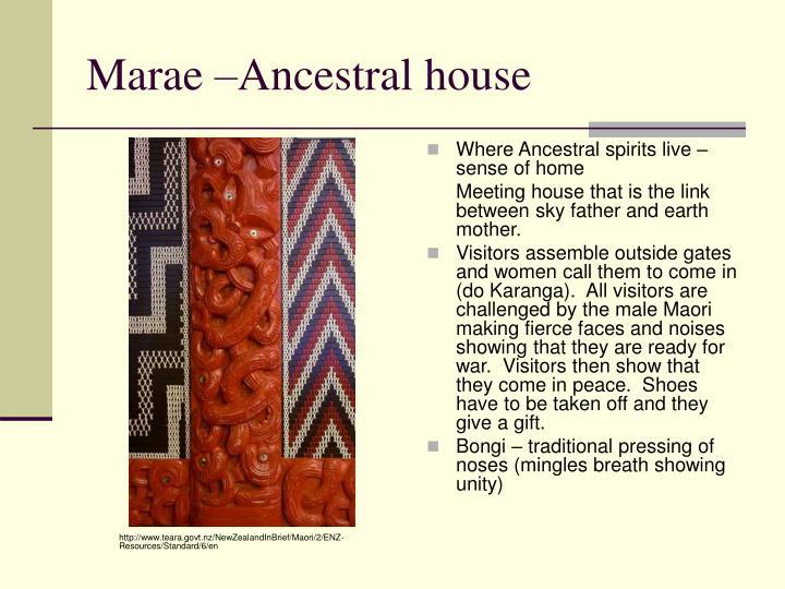 Marae –Ancestral house