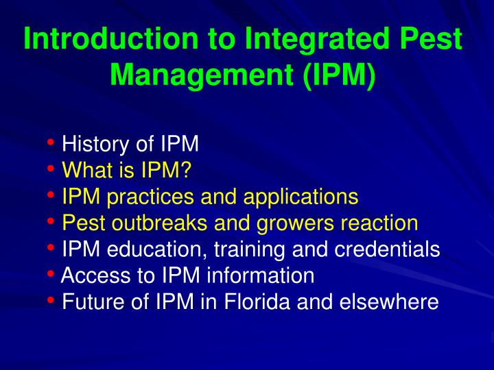 Introduction to Integrated Pest Management (IPM)