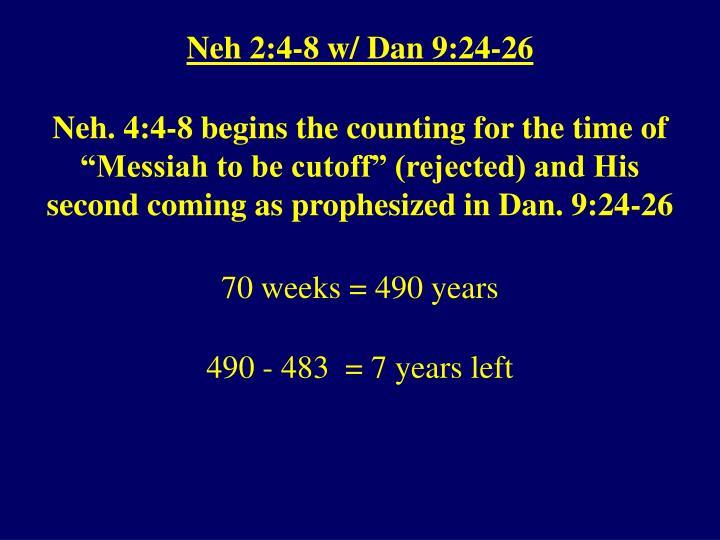 Neh 2:4-8 w/ Dan 9:24-26
