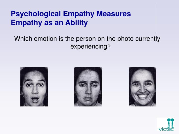 Psychological Empathy Measures Empathy as an Ability