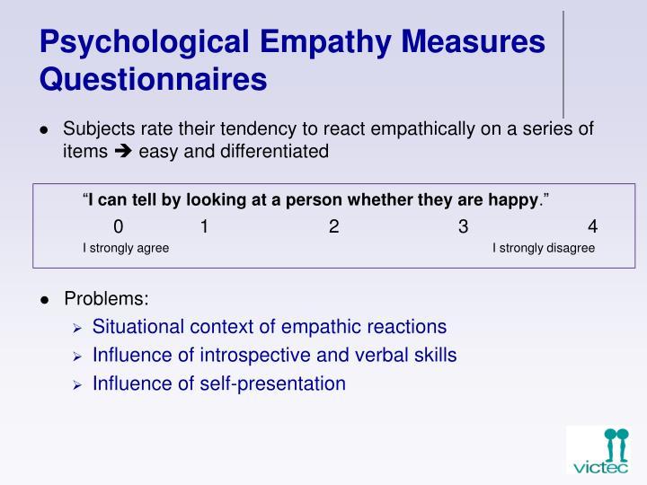 Psychological Empathy Measures Questionnaires