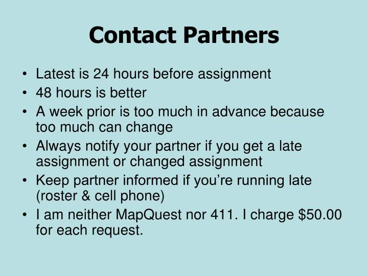 Contact Partners
