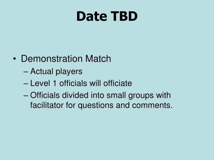 Date TBD